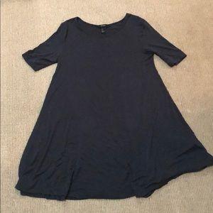 Very soft mid sleeve swing dress mid legnth